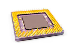 old CPU one white background 2 Stock Photography