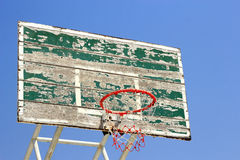 Old crack basketball board with  hoop Stock Photography