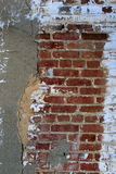 Old, crack wall of brick and stone Royalty Free Stock Photos