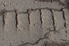 Old cracked asphalt Royalty Free Stock Images