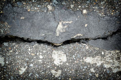 Old cracked asphalt closeup Royalty Free Stock Images