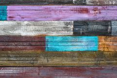 Old cracked boards with peeling paint royalty free stock image