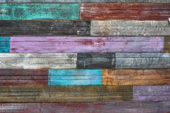 Old cracked boards with peeling paint royalty free stock images