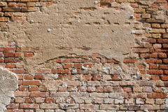 Old cracked brick wall Royalty Free Stock Photos