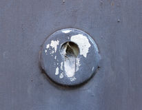 Old cracked and broken keyhole Stock Photos