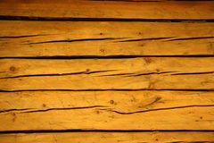 Old cracked brown wooden planks Royalty Free Stock Images
