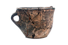 Old cracked ceramic cup Royalty Free Stock Photos
