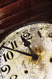 Old cracked clock detail Royalty Free Stock Image
