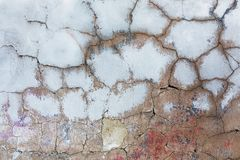 Old cracked concrete with paint residues Stock Image