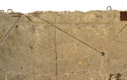 Old, cracked concrete surface Royalty Free Stock Images
