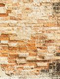 Old cracked concrete vintage brick wall background Stock Photo
