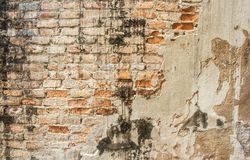 Old cracked concrete vintage brick wall background Royalty Free Stock Image