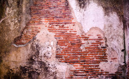 Old cracked concrete vintage brick wall background stock photos