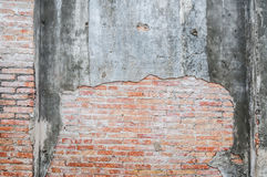 Old cracked concrete vintage brick wall background, Textured background Stock Photos