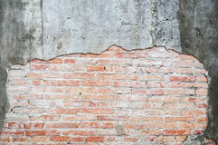 Old cracked concrete vintage brick wall background, Textured background Royalty Free Stock Image