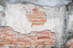 Old cracked concrete vintage brick wall background, Textured background Royalty Free Stock Photos