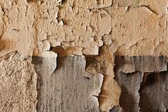 Old cracked and dilapidated wall of building Royalty Free Stock Photos