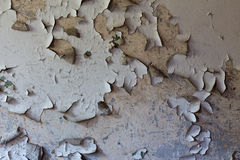 Old cracked and dilapidated wall of the building Royalty Free Stock Photos