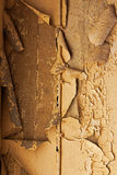 Old cracked dilapidated wall and electric cable Royalty Free Stock Photography