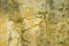 Old cracked grunge plaster concrete wall surface texture background, copy space Royalty Free Stock Image