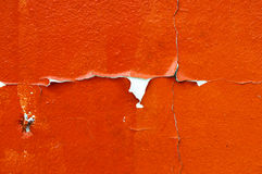 Old cracked orange paint background texture wall Stock Photography