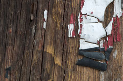 Old cracked paint on boards Royalty Free Stock Photography
