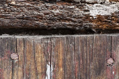 Old cracked paint on boards Royalty Free Stock Images