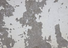 Old cracked paint on the concrete wall Stock Image