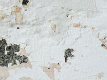 Old cracked paint concrete wall texture background close up Stock Photos