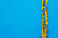 Old cracked paint pattern on concrete background. Peeling paint. Stock Photo