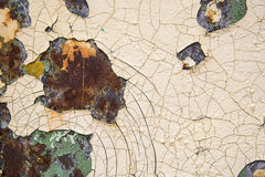 Old cracked paint and rusty Royalty Free Stock Photos