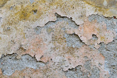 Old Cracked Paint. Washout cracked paint on old plaster. Old wall with texture stock photo
