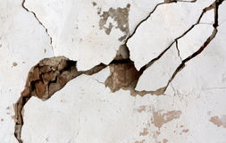 Old cracked plaster wall. Stock Photography