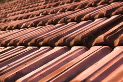 Old Cracked Roof Tiles Royalty Free Stock Photo