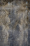 Old and cracked ruberoid background Stock Photography