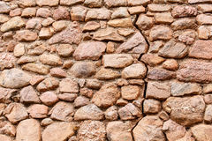 Old Cracked Stone Wall Stock Image