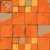 Old cracked tiles vector Stock Photography