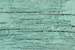 Old cracked turquoise paint. Vintage texture Stock Images