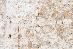 Old cracked wall. Beige background Stock Image