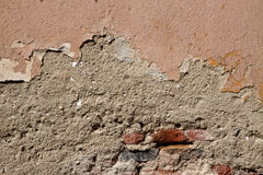 Old cracked wall texture with bricks Royalty Free Stock Photos