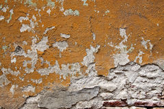 Old cracked wall texture with bricks Stock Image