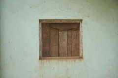 Old cracked Wall with a Window Royalty Free Stock Photos