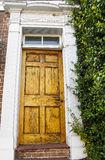 Old Cracked and Weathered Door Royalty Free Stock Photo