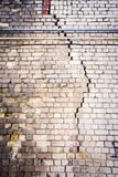 Old cracked white brick wall Stock Photography