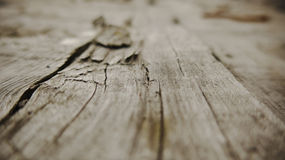 Old cracked wooden board. Stock Photo