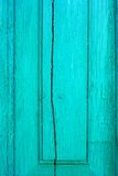 Old cracked wooden turquoise board Stock Images