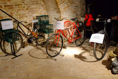 Old crafts with bicycle Royalty Free Stock Image