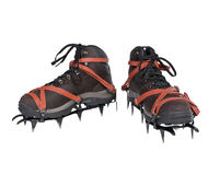 Old Crampons & New Boots Stock Images