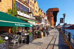 Old Crane in Gdansk Royalty Free Stock Photos