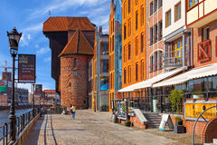Old Crane in Gdansk Stock Photography